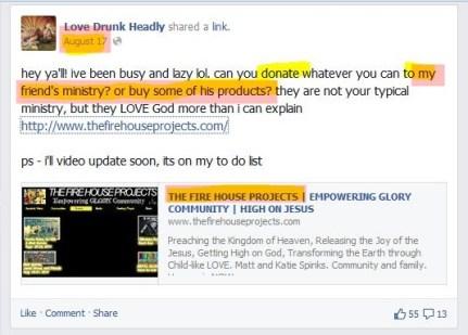 Head promotes demonic group 8.17.14