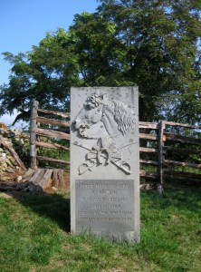 1st Massachusetts Cavalry Monument at Aldie