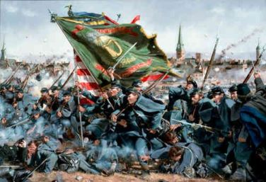 The Irish Brigade Attacks at Fredericksburg
