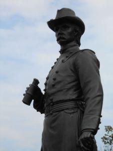 Warren monument atop Little Round Top.
