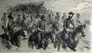 Depiction of Morgan's Raid