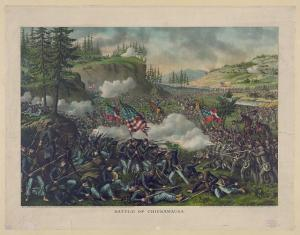 The Battle of Chickamauga. Courtesy of the Library of Congress.