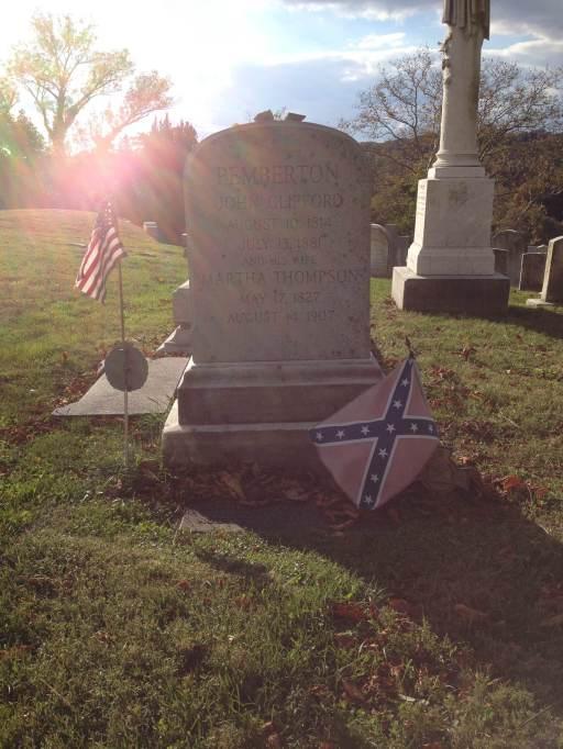 John C. Pemberton grave stone at Laurel Hill Cemetery in Philadelphia, Pennsylvania