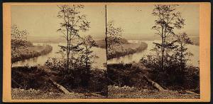 View from a Rebel Battery on Lookout Mountain. Courtesy of the Library of Congress.