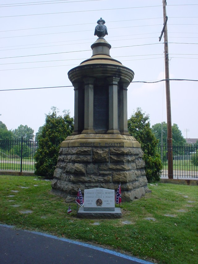 George Pickett's Grave in Hollywood Cemetery, Richmond, Virginia