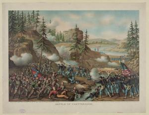 The capture of Orchard Knob. Courtesy of the Library of Congress.