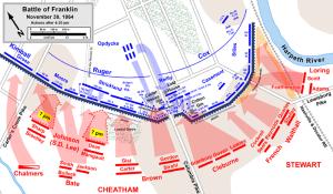 Battle of Franklin Map created by Hal Jesperson. www.cwmaps.com