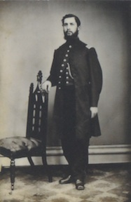 Lt. Robert Robertson of the 93rd NY infantry. Robertson fell seriously wounded at the battle. His journal is the basis for much of the interpretation along the walking trail.