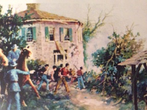 The fight at the Octagon House at Adairsville
