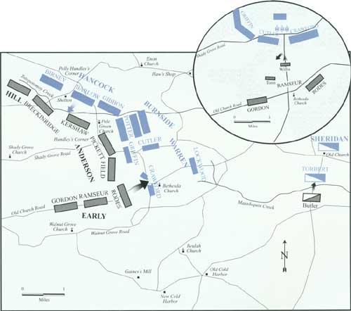 Map of Bethesda Church (courtesy of NPS)