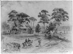 The Old Cold Harbor crossroads. Courtesy of the Library of Congress.