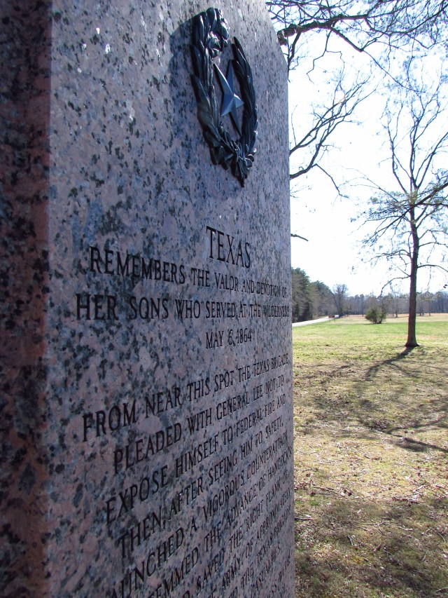 The Texas Brigade Monument in the Widow Tapp Field, on the Wilderness Battlefield. Photo by Kristopher D. White