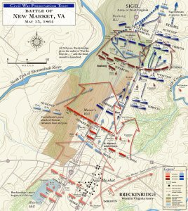 Battle of New Market, May 15, 1864 (courtesy of CWT)
