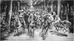 Longstreet's party in the Wilderness.