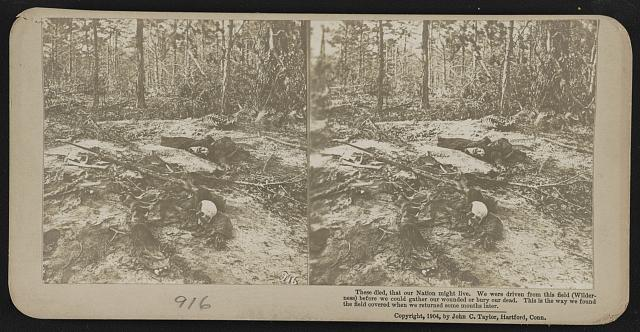 Remains found on the battlefield (courtesy of LoC)