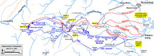 The Appomattox Campaign. Map by Hal Jesperson.