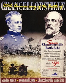 Flier for a CVBT preservation event on the 135th anniversary of the battle of Chancellorsville