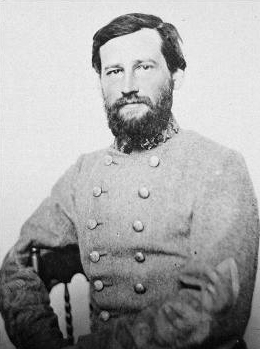 Lieutenant General Stephen Dill Lee, the youngest lieutenant general in the Confederacy. He had seen varied serivce; in the artillery at Antietam, with the cavalry with Nathan Forrest, and now with the infantry around Atlanta.