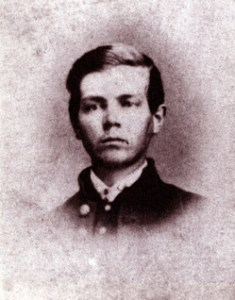"""Sgt. Paul Kuhl, Co. A., 15th New Jersey Vols. 26 November 1842-12 May 1864. Photo taken from Carmichael, Peter S. """"We Respect a Good Soldier, No Matter What Flag He Fought Under: The 15th New Jersey Remembers Spotsylvania."""" The Spotsylvania Campaign. Ed. Gary W. Gallagher (Chapel Hill, NC: University of North Carolina, 1998), 210."""