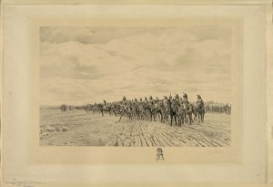 French Cavalry, supported by artillery on the battlefield of Austerlitz. Courtesy of the Library of Congress.