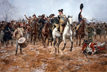 """Washington at Princeton""--painting by Don Troiani"