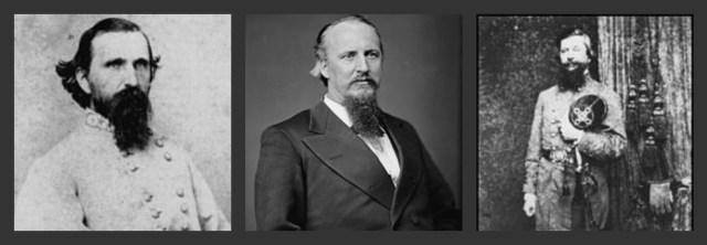 L to R, Maj. Gen. John C. Brown, Brig. Gens. Francis Cockrell & Zachariah Deas