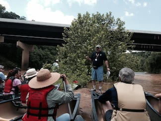 NPS historian Greg Mertz talks about the crossing at Germanna Ford (photo by Chris Mackowski)