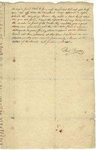Last page of Paul Revere's testimony of the events of April 19, 1775