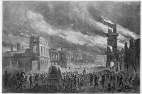 The Burning of Columbia, in the eyes of William Waud for Harper's Weekly