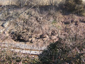 The railroad cut at Gettysburg.