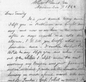 Excerpt from a Warren letter.  From the New York State Library.
