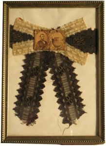 A large mourning badge worn after the assassination of Abraham Lincoln