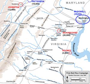 First Manassas Campaign. Map by Hal Jespersen, www.posix.com/CW