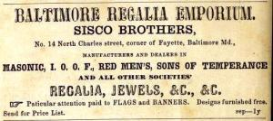 "Sisco Brothers advertisement in the October 1868 ""Southern Planter and Farmer""."