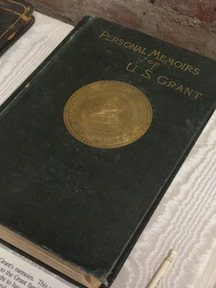 This first edition of Grant's memoirs is on display at Grant's Tomb in NYC.