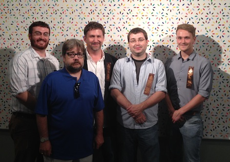 Part of the ECW Rogue's Gallery at St. Bonaventure (from left) Dan Davis, Derek Maxfield, Chris Mackowski, Kris White, and James Brookes. Also appearing was Eric Wittenberg, with a guest appearance by Mark Dunkelman.
