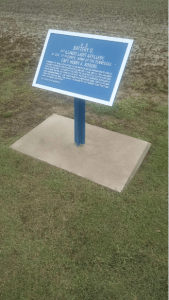 Plaque for Battery D, 1st Illinois Artillery at the Raymond battlefield.