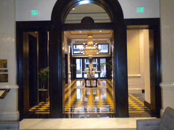 The hotel entryway
