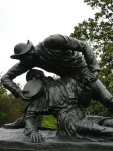 Statue memorializing Sergeant Kirkland's heroism, Fredericksburg Battlefield. (Photo by the author, 2008).