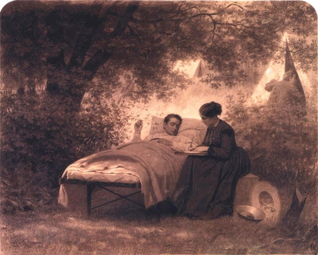 """The Field Hospital"" by Eastman Johnson"