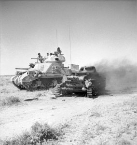 M3_Grant_with_knocked_out_Panzer_I_1942
