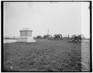 Barlow's Knoll, Gettysburg, c. 1900 (LOC: LC-DIG-det-4a11026)