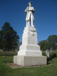 Monument to Confederate Dead in the Dalton Cemetery