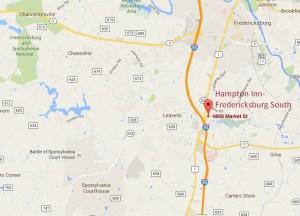 Hampton Inn- Fredericksburg South 4800 Market Street  Fredericksburg, VA 22408