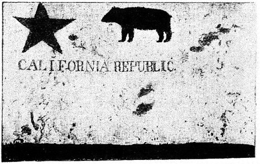 One of the first California Bear Flags.