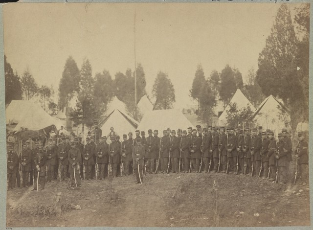Photography of a Civil War Regiment (LOC). Were there any unidentified female soldiers in this unit?