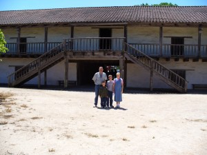 The Sonoma Soldiers' Barracks (This photo was taken quite a few years ago and part of the Bierle Family got in the photo.)