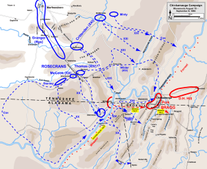 The Chickamauga Campaign, August-September 1863. Map courtesy of Hal Jespersen.  www.posix.com/CW