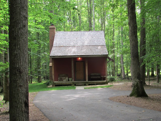 The quaint Adrian Cabin at Stevenson Ridge.
