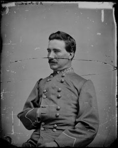 Confederate cavalry Brig. Gen. John Imboden, who led the wagon train carrying the wounded through hardships and dangers and commanded the defense of Williamsport from attacking federal cavalry. Courtesy of U.S. National Archives and Records Administration, cataloged under the ARC Identifier (National Archives Identifier) 529238